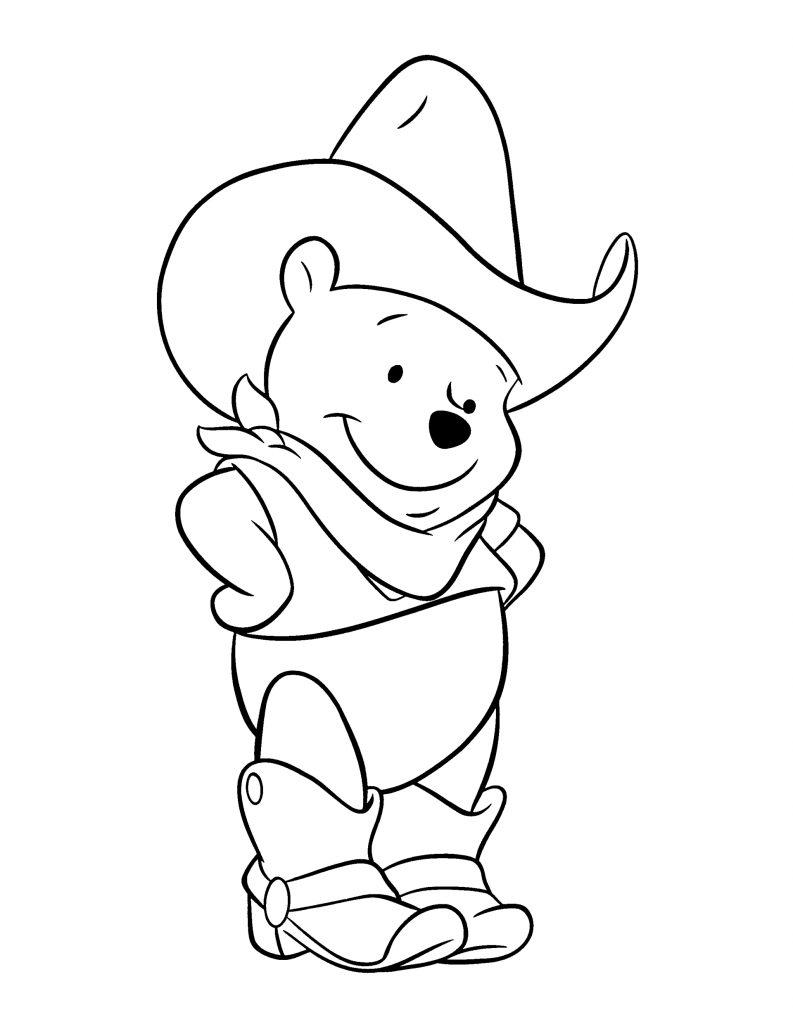 รูปการ์ตูนหมีพูห์ระบายสี