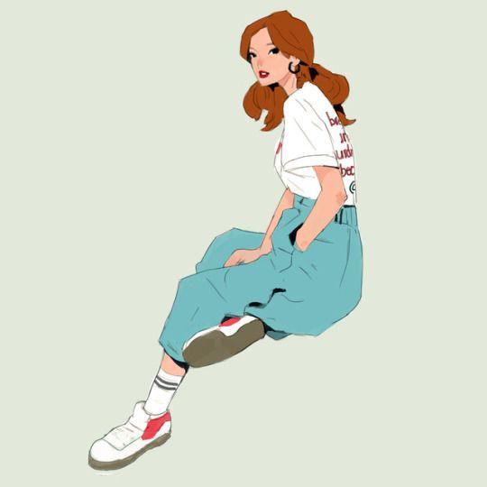 รูปการ์ตูนผู็หญิง