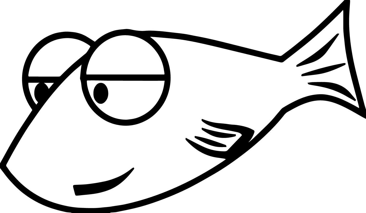 Fish Cartoon Coloring Pages